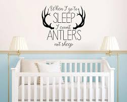 When I Go To Sleep I Count Antlers Not Sheep Vinyl Wall Decal Etsy