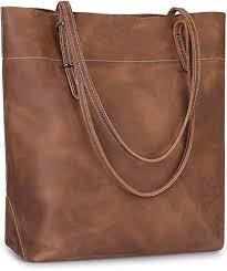 vintage genuine leather tote bag