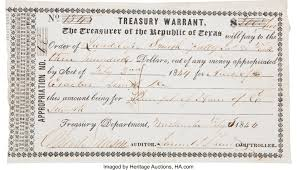"Treasury Warrant Issued to Guadalupe Smith, Widow of Erastus ""Deaf ..."