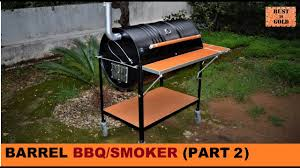 how to build a barrel bbq smoker part