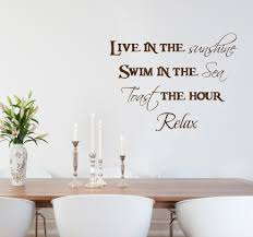 Live Swim Toast Relax Wall Decals Trading Phrases