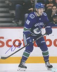Adam Gaudette Autographed Vancouver Canucks 8 x 10 Photo - Westcoast  AuthenticWestcoast Authentic