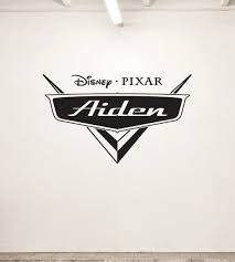 New Personalized Disney Cars Logo Design Vinyl Wall Decal For Kids Bedroom Many Colors Large Design 29 99 Car Themed Bedrooms Cars Room Disney Cars Bedroom