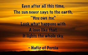 the sun never says to the earth quote picture