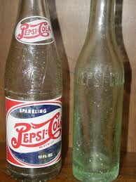 2 old pepsi cola bottles from columbia