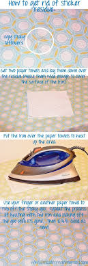 how to remove sticker residue from