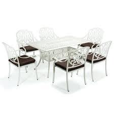 outdoor patio dining set cast aluminum