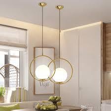 modern led glass ball pendant light