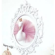 Home Decoration Plush Animal Head Swan Head For Baby Girls Room Decor Kids Bedroom Hangings Wall Decor Children Daughter Gifts Akolzol Com