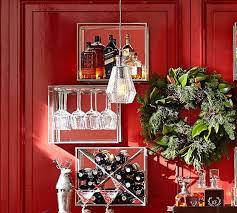 mirrored entertaining shelves pewter