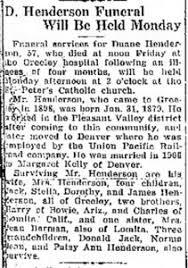Duane Joseph Henderson (1879-1935) | WikiTree FREE Family Tree