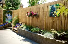 Bamboo Fencing Ideas For Garden Patio Or Balcony Pertaining Ft Rolls Privacy Fence Home Elements And Style Back Yard Inexpensive Gates Designs Lowe S Backyard Crismatec Com