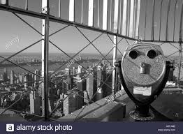 Binoculars Top Of The Empire State Building New York Stock Photo Alamy
