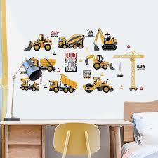 Transportation Trucks Boys Bedroom Wall Stickers Gallery Wallrus Free Worldwide Shipping