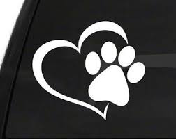 Paw Print Decals Etsy