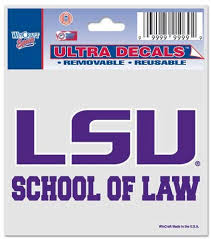 Amazon Com Louisiana State University School Of Law Ultra Decal Window Cling Everything Else
