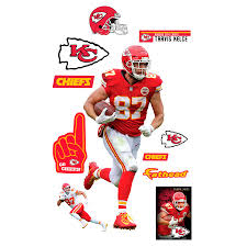 Fathead Travis Kelce Kansas City Chiefs Home 11 Pack Life Size Removable Wall Decal