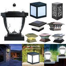 6 8 12 Led Outdoor Garden Solar Post Deck Cap Square Fence Light Pillar Lamp Uk Ebay