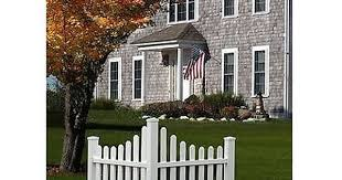 Corner Picket Fence Property Boundary Marker Outdoor Lawn Landscaping Accents New England Arbors Country Fences Cool Landscapes