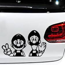 Super Sale 50bd Three Ratels Fc215 Funny 3d Super Mario Peeking Car Stickers Vinyl Decal Decoration For Peugeot 307 206 407 406 405 3008 4008 20 Cicig Co