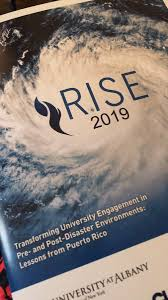 "Jocelyn West on Twitter: """"Resiliency is the governance of uncertainty.""  -Cecilio Ortiz Garcia setting the tone at #RISE2019Albany. Reminding us  that the ""Grand Challenge"" we face in disaster research is collaboration,  convergence,"