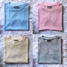 dark and pastel colored plain shirts on