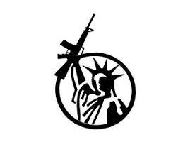Statue Of Liberty Gun Rights 1 Vinyl Decal Sticker Window Glass Rifle Ar15 Ebay