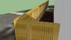 8ft Wood Post Fence Twilight Detailed Corner 3d Warehouse