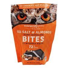 dark chocolate bites sea salt almonds
