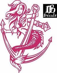 Sexy Mermaid Girl Lady Anchor Fantasy Car Boat Truck Window Vinyl Decal Sticker Ebay