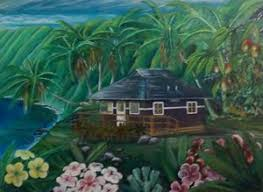 Island home of Ivan W. - unnamed) - Ivan Wallace Art™ Curated by Hecka  Mucha Magazine™ - Paintings & Prints, Landscapes & Nature, Beach & Ocean,  Islands - ArtPal
