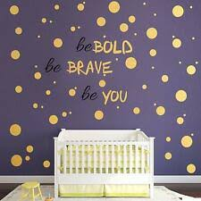 Gold Wall Decal Dots 200 Decals Easy To Peel Easy To Stick Metallic For Sale Online