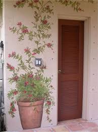 Mural Flower Pot Garden Mural Exterior Wall Art Wall Murals Painted