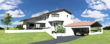 maison contemporaine sur terrain en
