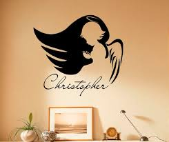 Angel Wall Decal Personalized Name Custom Name Vinyl Sticker Etsy