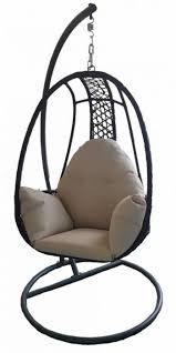 the pod garden wicker garden hanging seat