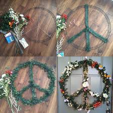 diy fl peace sign hippie house