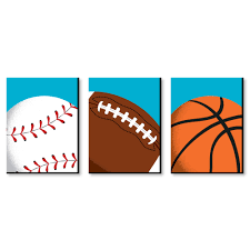 Go Fight Win Sports Themed Nursery Wall Art Kids Room Decor And Game Room Home Decorations 7 5 X 10 Inches Set Of 3 Prints Walmart Com Walmart Com