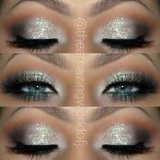 prom makeup glitter eye makeup idea for