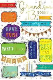 today grandson th quotes banners design happy birthday card