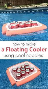 floating cooler pool noodle crafts
