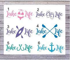 Lake Life Car Decal Stickers Lake Car Decals Summer Decals Etsy