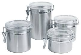 canister set stainless steel 4 piece