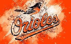 baltimore orioles 4k grunge art