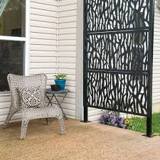 Freedom 24 In X 4 Ft Sprig Black Vinyl Decorative Screen Panel Lowes Com Decorative Screen Panels Brick Exterior House Outdoor Privacy