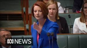 Julia Gillard's 'misogyny speech' in ...