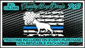 American Flag K 9 Vinyl Decal Sticker Thin Blue Line Police K9 Truck Car Dog Usa Ebay