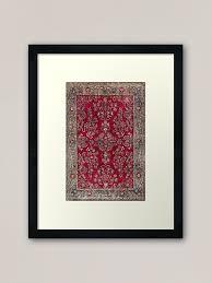 silk rug print framed art print