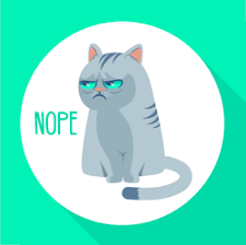 Angry Grumpy Cat Nope Sticker