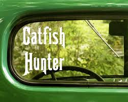The Decal And Sticker Mafia 2 Catfish Hunter Fishing Decals Sticker For Car Window Bumper Laptop Jeep Rv